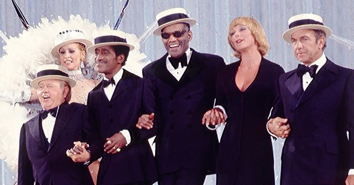Sammy Davis, Jr. with Mickey Rooney, Ray Charles, Elke Sommer and Jack Carter